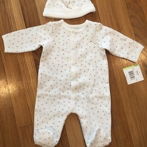 Little Me Footsie and hat set NWT